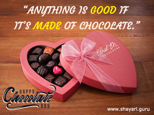 Chocolate Day Shayari Image