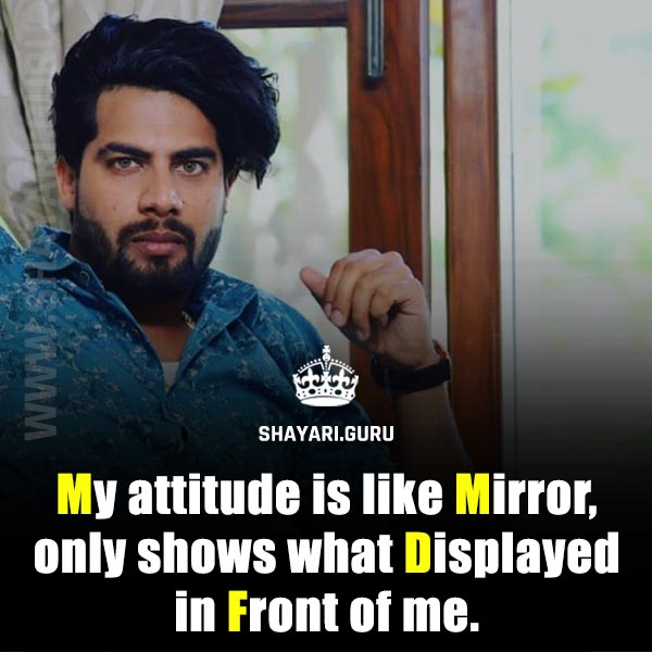 attitude english status
