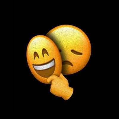 sad emoji dp